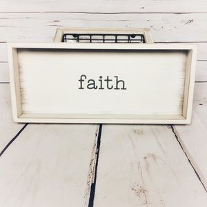 [Quill To Paper] Faith Rustic Quote Decor